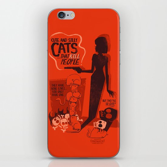 Cat Movie - orange iPhone Skin