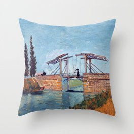 Vincent Van Gogh - Drawbridge at Arles 2 Throw Pillow