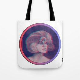 Anna Glyph: Three-Eyed Lady Tote Bag