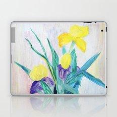 irises on pastel background Laptop & iPad Skin