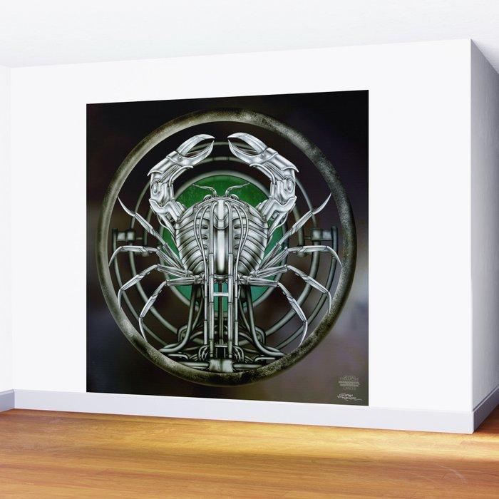 """Astrological Mechanism - Cancer"" Wall Mural"