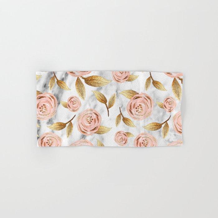 Blushing blooms Hand & Bath Towel