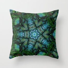 Lost in Moss Throw Pillow