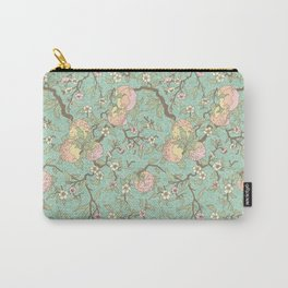Peaches and Blossoms Carry-All Pouch