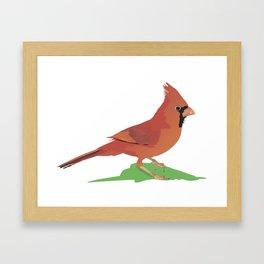 Northern Cardinal Bird Framed Art Print