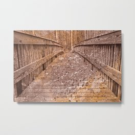 Acrylic Sepia Bridge Metal Print