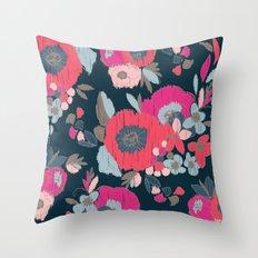 Janis Flower Throw Pillow