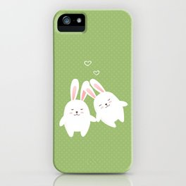 Bunnies in love iPhone Case