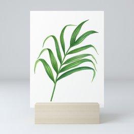 green- palm leaf, wall art, home decor, wall art, artwork, minimalist design Mini Art Print