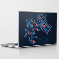 60s Laptop & iPad Skins featuring Minneapolis-St.Paul (MSP) - 60s by Kyle Rodgers