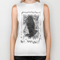 crow Biker Tanks featuring crow by Vector Art