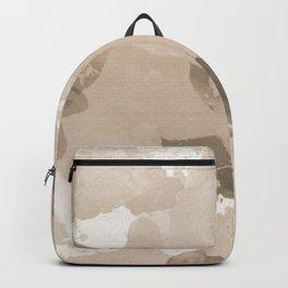 Pantone Hazelnut Splatters Watercolor Camo Pattern Backpack