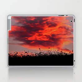 Sun Sets in the Field Laptop & iPad Skin