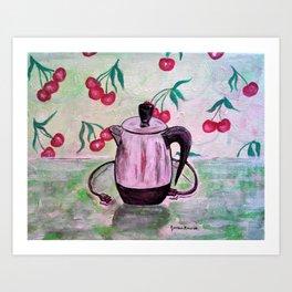Vintage Electric Coffee Pot Art Print