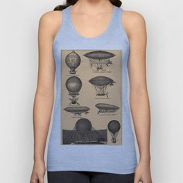 Airships / Air Balloons Unisex Tank Top