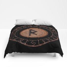 Raidho Elder Futhark Rune Travel, journey, vacation, relocation, evolution, change of place Comforters
