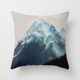 Snow Mountain Throw Pillow