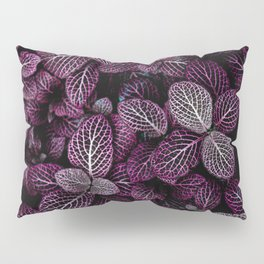 Purple Leaves Pillow Sham