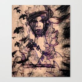 Purple Heart Geisha Canvas Print