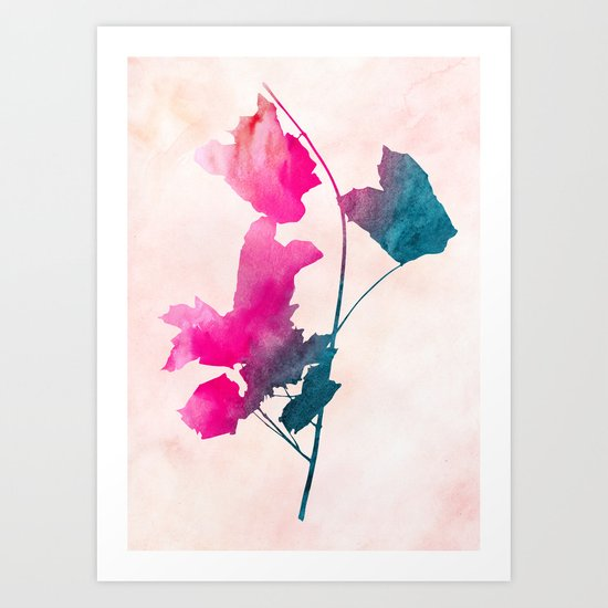 maple 1 watercolor by Jacqueline Maldonado & Garima Dhawan Art Print