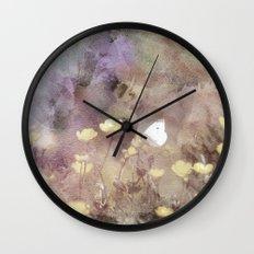 Butterfly Rain Wall Clock