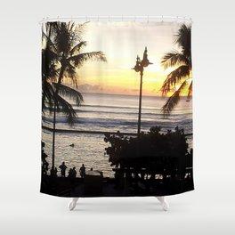 Waikiki Dusk Shower Curtain