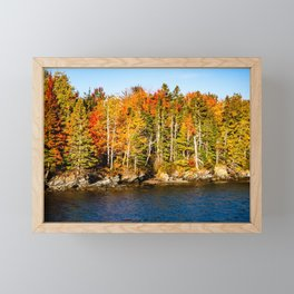 New England Fall. USA. Framed Mini Art Print