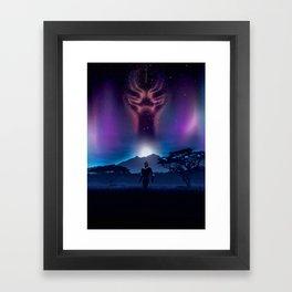 Black Panther Heaven Framed Art Print