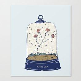 Bloom & Grow - Inspirational Terrarium Canvas Print