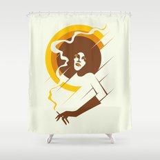 Retropolitan (warm) Shower Curtain