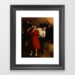The Follow in Red Framed Art Print