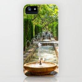 Fountain in the gardens of Almudaina - Palma de Mallorca, Spain iPhone Case