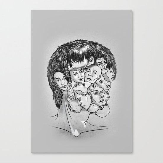 Face Lock BW Canvas Print