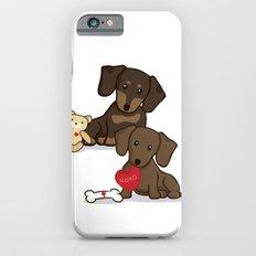 Valentine's Day Love Daschund Illustration iPhone 6s Slim Case