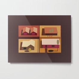 4 Houses Metal Print