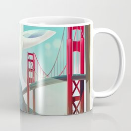 San Francisco, California Glider poster print. Coffee Mug