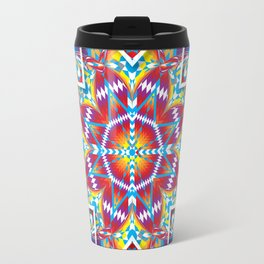 Lakota Sunburst Starquilt Motif Travel Mug