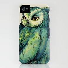 Green Owl iPhone (4, 4s) Slim Case