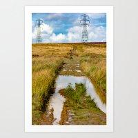 The Welsh hills Art Print