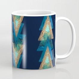 Navy Blue & Gold Arrow Coffee Mug