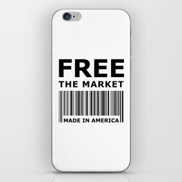 Free The Market iPhone Skin