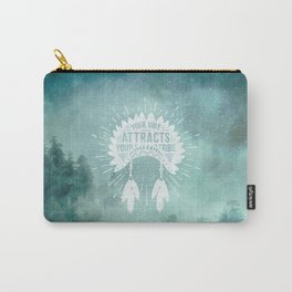 Your Vibe Attracts Your Tribe - Starry Forest Night Carry-All Pouch