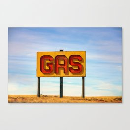 Gas Sign Canvas Print