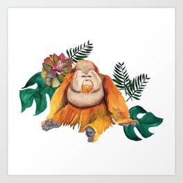 Forest Of Orangutans Art Print