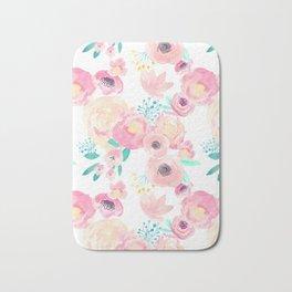 Indy Bloom Design Blush Baby Florals Bath Mat