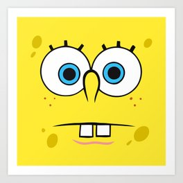 Spongebob Surprised Face Art Print