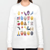 emoji Long Sleeve T-shirts featuring Emoji  by Life.png
