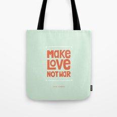 Make Love, Not War Tote Bag