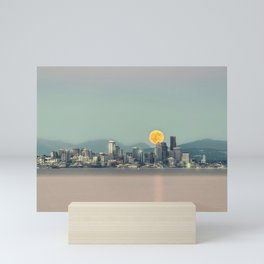 Blood Moon Over Seattle Mini Art Print