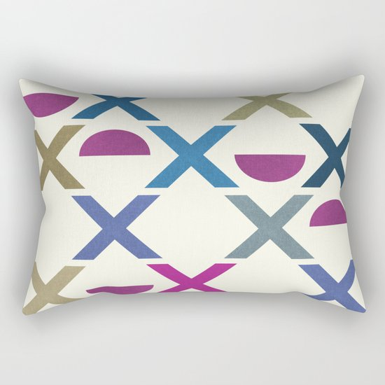 Abstract Unique Pattern Rectangular Pillow